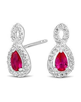 Simply Silver infinity twist earring