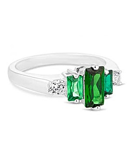 Jon Richard Green baguette ring