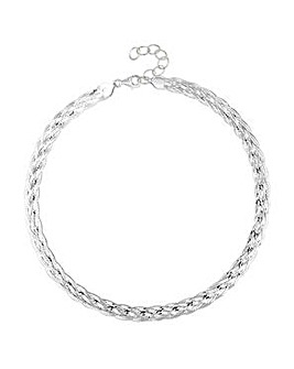Simply Silver snake chain necklace