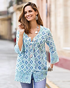 Together Tile Print Blouse
