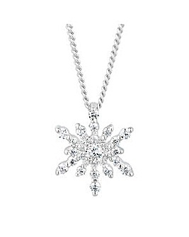 Simply Silver starburst necklace