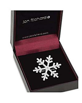 Jon Richard Silver snowflake brooch