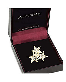 Jon Richard Gold triple star brooch