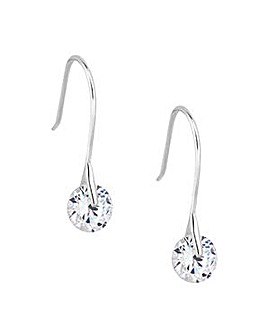 Simply Silver tension drop earring