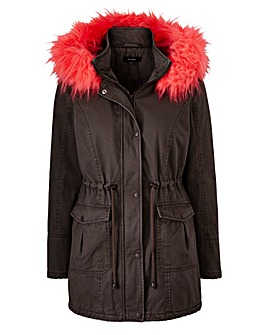 Value Parka With Fur Trim