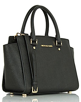 Michael Kors S Large TZ Satchel Black