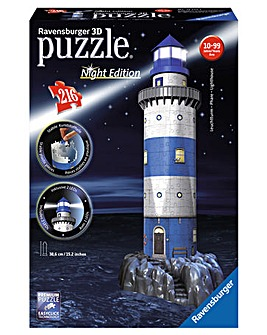 Lighthouse Night Edition 3D Puzzle