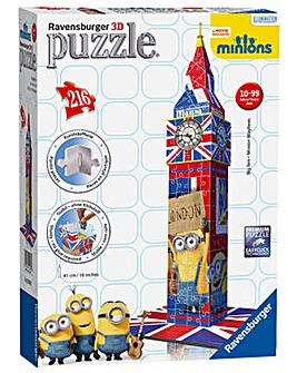 Minions Movie Big Ben Building 3D Puzzle
