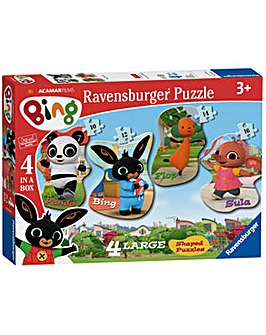 Bing Bunny 4 Shaped Jigsaw Puzzles