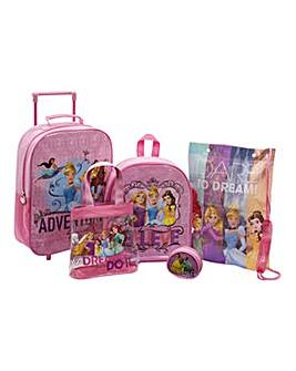 Disney Princess 5 Piece Luggage Set