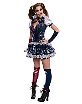 Adult Ladies Arkham Harley Quinn Costume