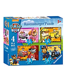 Paw Patrol 4 In A Box Jigsaw Puzzle