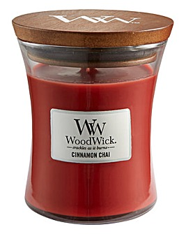 WoodWick Cinnamon Chai Medium Jar Candle