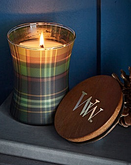 WoodWick Frasier Fir Plaid Candle