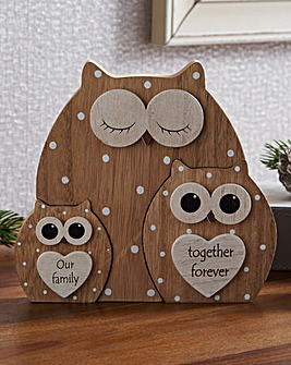 Owl Family Trio