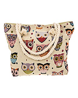 Tapestry Style Owl Bag