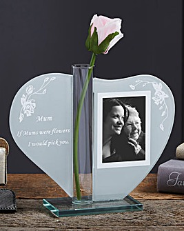 Heartfelt Photo and Vase Keepsake