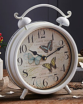 Metal Butterfly Clock