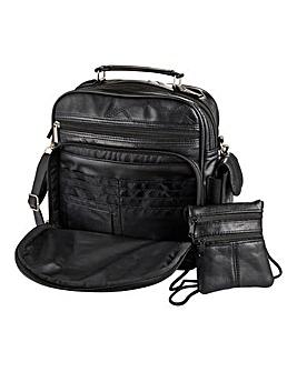 Leather Organiser Bag & Travel Wallet