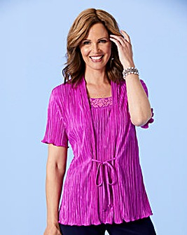 Plisse 2 in 1 Top with Caviar Beads