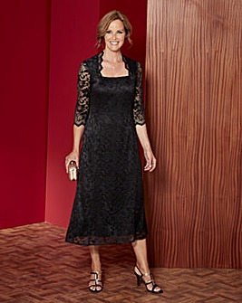 Lace Dress with Square Neck