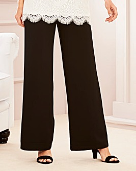 Crepe Wide Leg Trouser