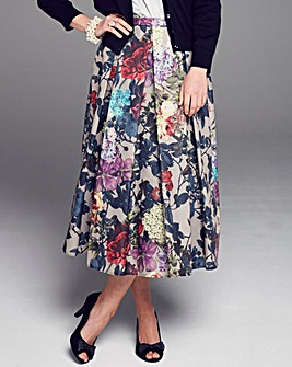 Nightingales Floral Print Skirt