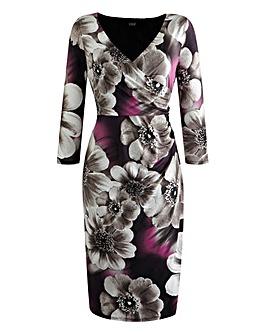 Grace Floral Wrap Print Dress