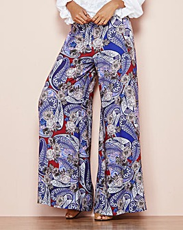 Printed Wide Leg Trouser