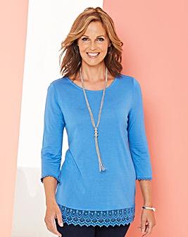 Crochet Trim Jersey Tunic