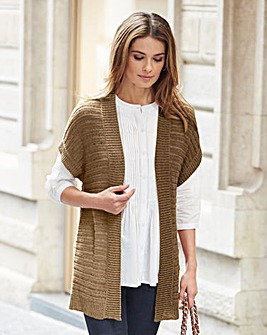 Nightingales Sleeveless Knitted Cardigan