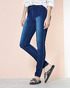 Denim Look Leggings - Short