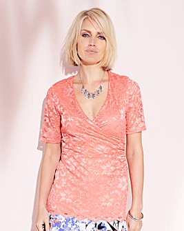 Nightingales Wrap Lace Top
