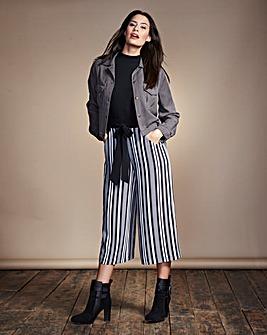 Wide-Leg Print Culottes