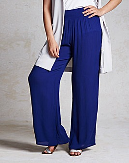 Crinkle Wide Leg Trouser - Short