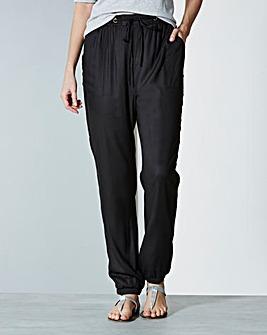 Woven Harem Trousers - Long