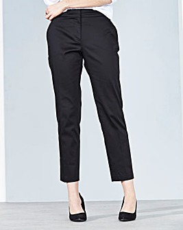 Cotton Sateen Ankle Grazer Trouser Reg