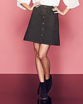 Button-Through Utility Skirt