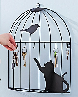 Birdcage Wall Art Key Holder