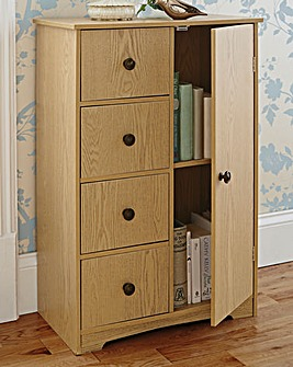 Storage Cabinet with Oak Finish