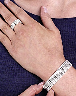 Diamante Bracelet and Ring Set