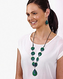 Peacock Necklace and Earring Set