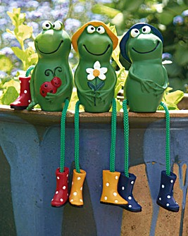 Frog Pot Perchers Set of 3