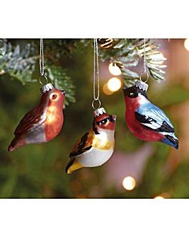 British Birds Tree Ornaments Set of 6