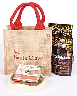 Santa Claws Cat Treat Bag