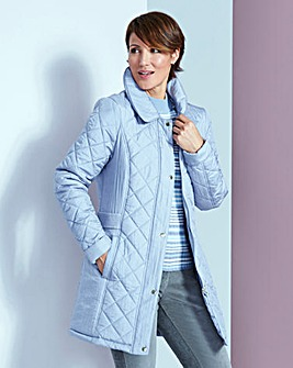 Quilted Jacket Three Quarter Length