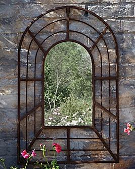 Antique Style Garden Mirror