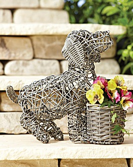 Rattan Puppy Love Planter