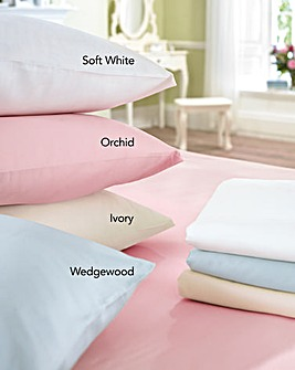 300TC Perfect Finish 12in Fitted Sheet