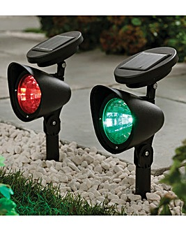 Multi Coloured LED Spot Lights Set of 2